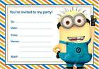 Blank Minion Birthday Party Invitations with free envelopes & P&P