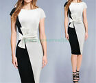 Black And White 7 Size Bowknot Belt Dress Party Dinner Wear Dress 1620 G CA