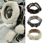 Fashion Long Plush Warm Fur Steering Wheel Cover Woolen Handbrake Car Accessory