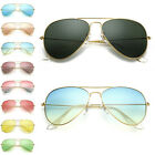 Women Men Gradient Sun Aviator Frog Mirror Unisex Sunglasses Eyewear