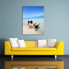 YOUR OWN PHOTO CANVAS. PERSONALISED FRAMED PRINT - ALL PORTRAIT SIZES - ADD TEXT
