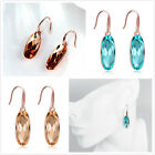 1Pairs New Women's Oval Pendant Crystal Dangle Hook Earring Fit Jewelry Gifts L