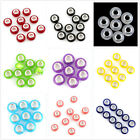 100pcs Twelve Assorted Color Pure Smooth Design Resin European Charms Bead D
