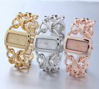 AOYI Womens Lady Dress Net Bracelet Square Case Steel Quartz Wrist Watch Luxury