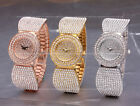 AOYI Silver/18K Golden Plated/ Rose Gold Plated Diamond Case Womens Watch Quartz