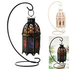 Himalayan Salt Lamp Light Air Purifying +Black/White Metal Hanging Basket EH7E