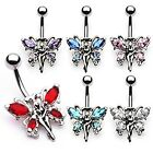 Butterfly Fairy Wings 14G Belly Navel Ring Body Jewelry Wholesale
