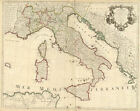 Map of Italy by  De L'isle (antique map reproduction)
