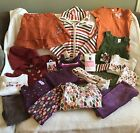 GYMBOREE FALL LOT DRESS SKIRT TOP PANTS TIGHTS HAIR SWEATER 5 5T 6 EUC 19PC