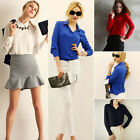 Women's Lady Loose Long Sleeve Chiffon Casual Blouse Lady Shirts Tops Blouse