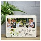 Personalised Flowers Wedding Day WOOD PHOTO PANEL PRINT KEEPSAKE GIFT F20