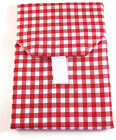 Wrap-N-Mat Products Reusable Snack Pouch-Red & White Check