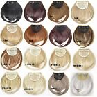 Women Lady Girl Party Clip on Bang Front Fringe only Hair extension Wigs Piece