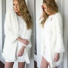 Fashion Women Winter Warm Faux Fur Jacket Coat Long Sleeve Cardigan Overcoat New