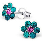 1 Pair Daisy Flower Stud Earring Women Girls Elegant Jewelry Crystal Rhinestone