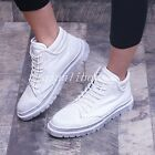 Korean Men's High Top Casual Shoes Round Toe Lace Up British Leather Ankle Boots