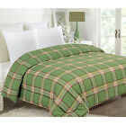 PLAID CHRISTMAS GIFT HOLIDAY COMFORTER BEDROOM QUILT TWIN FULL QUEEN KING NEW