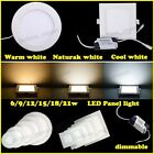 6-21W Dimmable Cree LED Recessed Ceiling Panel Down Light Ultra-thin Bulb Lamp