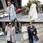 Fashion Women Long Trench Warm Down Coat Thicken Jacket Hooded Parka Overcoat
