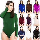 Womens Sexy Jumpsuit Long Sleeve T Shirt Stretchy Leotard Bodysuit Top Blouse