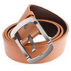 NEW Men's Genuine Leather Cowhide Waist Belt Alloy Pin Buckle Waistband Strap