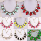 Women's Crystal Bubble Bib Fashion Collar Statement Necklaces Z2