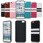 Ultra Thin Soft TPU Leather Two Stripe Pattern Case Cover Skin For iPhone 6 4.7""