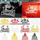 Removable Merry Christmas Tree Sticker Reindeer Snowflake Snow Car Decal Decor