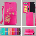 Plating Pattern Flip Stand Wallet Leather Phone Case Cover For SONY Xperia E5