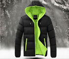 Warm Padded Jacket Coat Quilted Hooded Funnel Neck Zip Lined Casual Winter YJ