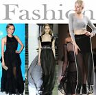 Lady Women's Skirt Fashion Casual Front Split Charming Long Maxi Skirt N4U8