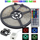 5M 12V Waterproof 300 LED RGB Strip Light 3528 SMD Lamp Remote Tape Roll KIT