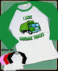 I LOVE GARBAGE TRUCKS RAGLAN SHIRT