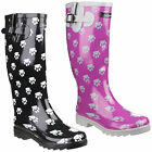 Cotswold Dog Paw Patterned Waterproof Womens Wellington Boots Wellies UK3-8