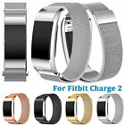 Magnetic Stainless Steel Watch Band for Fitbit Charge 2 Wrist Clasp Loop Strap