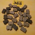 LEGO SPARES LOT OF 28 MIXED GREY BRICKS 1X2PIN WITH GRILL (2877) #365