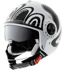 Caberg Riviera V2+ Wave Open Face Motorcycle Helmet - white/black