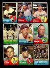 1963 TOPPS BASEBALL PARTIAL SET 525/576 NM *51287