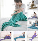 Knitted Mermaid Tail Blanket For Adult and Child ,Fashion Sleeping Bag