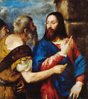 Classic Italian Renaissance Christian Art Print: The Tribute Money by Titian
