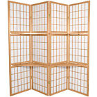 Oriental Furniture 6 ft. Tall Window Pane with Shelf Room Divider