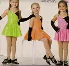 Jazz Tap Dance Costume Artstone green Skate Twirl Dress Lovely to Look at