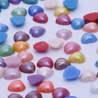 100 Mix color Cabochon Jewelry Supplies Flatback Glass Ceramic heart shaped