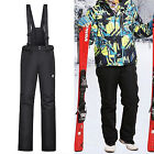 Mens Vail Ski Pants Salopettes Skiing Snobarding Winter Sports Skiwear Black