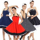Women's 1950s 60s Vintage Rockabilly Swing Dresses Retro Cocktail Party Dress