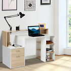 Computer Desk PC Table Wooden Workstation Executive Home Office Furniture Shelf