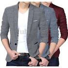 Tops Stylish Men Casual Slim Fit One Button Suit Blazer Coat Jacket Tops 2 Style