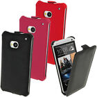 PU Leather Slim Flip Skin Case Cover for HTC One M7 Phone Holder Holster Pouch