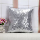 "New One Side Glitter Sequins Throw Pillow Case Sofa Decor Cushion Cover 16""x16"""