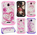 Alcatel Ideal HYBRID IMPACT Hard Dazzling Diamond Case Phone Cover Accessory
